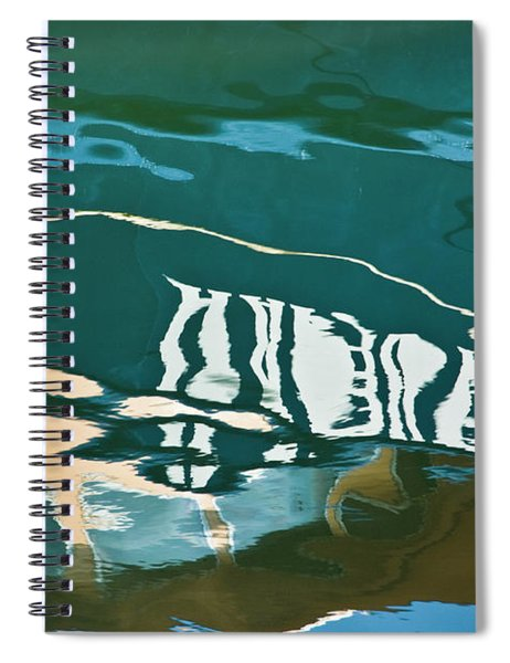 Abstract Boat Reflection Spiral Notebook