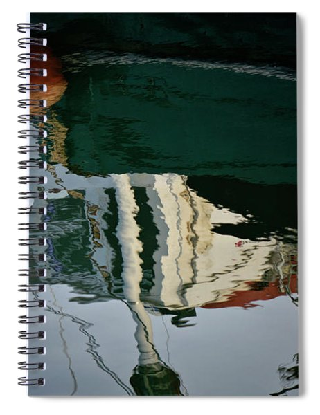 Abstract Boat Reflection II Spiral Notebook