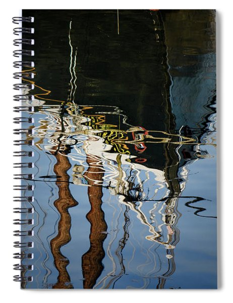 Abstract Boat Reflection IIi Spiral Notebook
