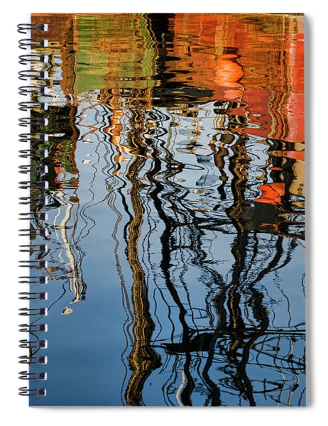Abstract Boat Reflections Iv Spiral Notebook