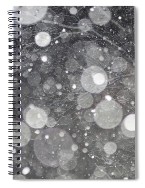 Abstract Branches In Snow  Spiral Notebook