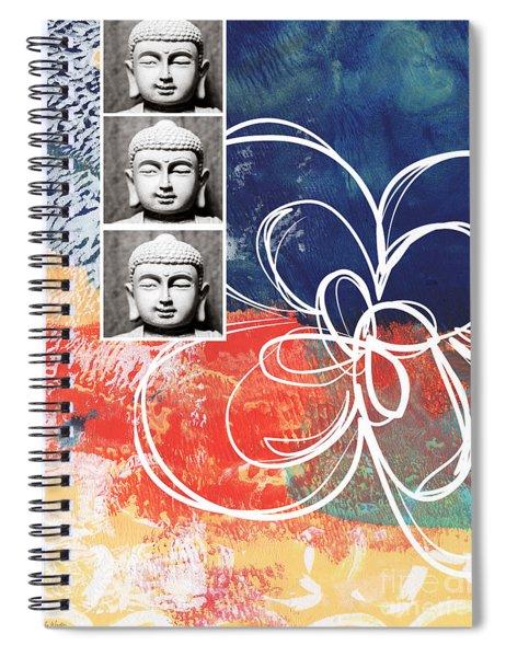 Abstract Buddha Spiral Notebook