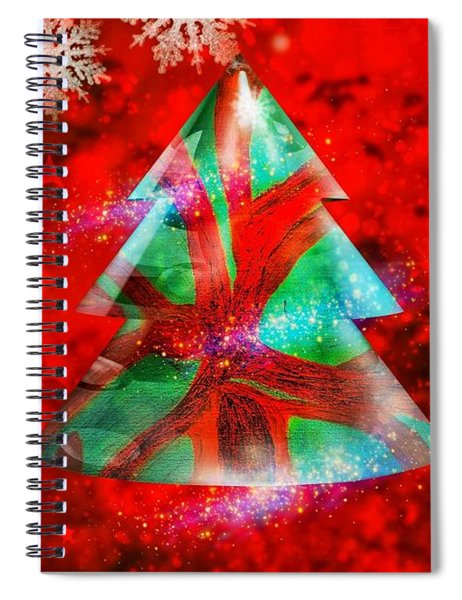 Abstract Christmas Bright Spiral Notebook