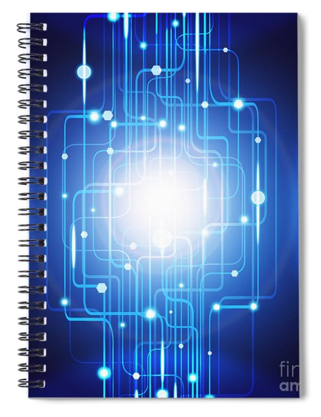 Abstract Circuit Board Lighting Effect  Spiral Notebook