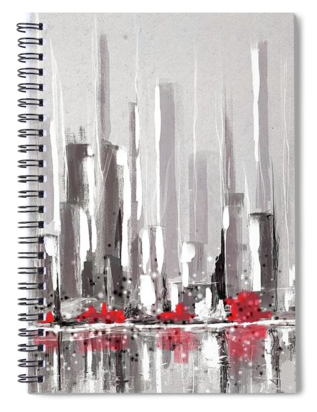 Abstract Cityscape Painting - 1 Spiral Notebook