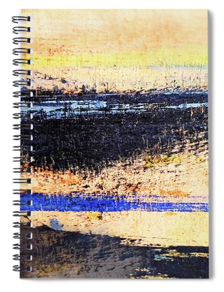 Abstract Coastal Beach Sunset Spiral Notebook