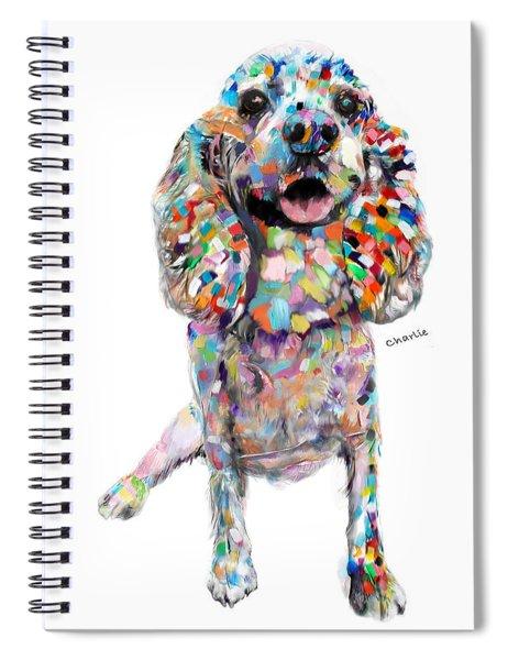 Abstract Cocker Spaniel Spiral Notebook