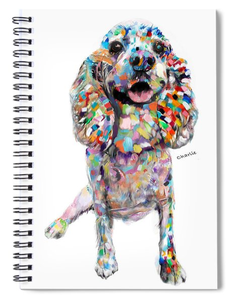 Abstract Cocker Spaniel Spiral Notebook