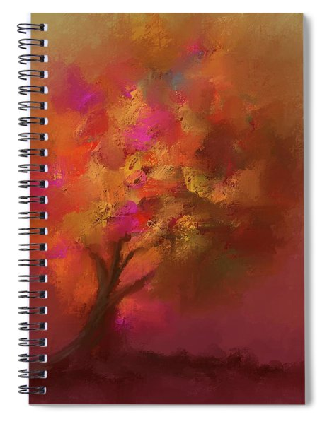Abstract Colourful Tree Spiral Notebook