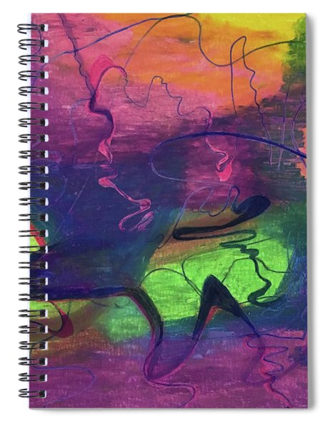 Colorful Abstract Cloud Swirling Lines Spiral Notebook