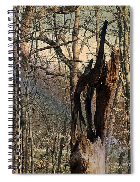 Abstract Dead Tree Spiral Notebook