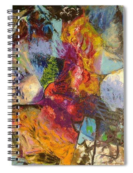 Abstract Depths Spiral Notebook