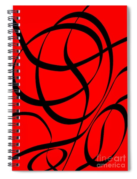 Abstract Design In Red And Black Spiral Notebook