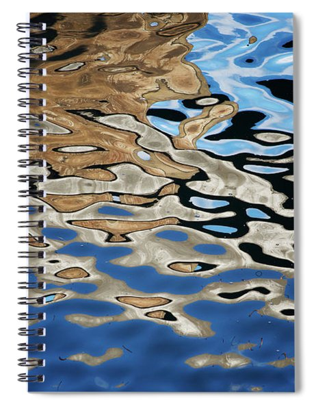 Abstract Dock Reflections I Color Spiral Notebook