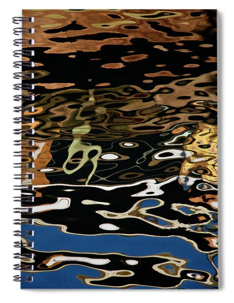Abstract Dock Reflections II Color Sq Spiral Notebook