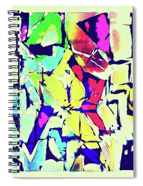 Abstract Explosion Spiral Notebook