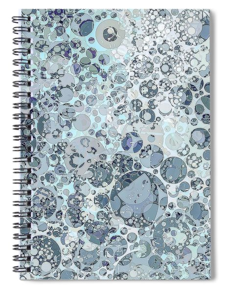 Abstract Faded Blue Grey Bubble Design Spiral Notebook