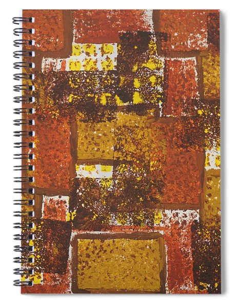 Abstract_ Fall  Spiral Notebook