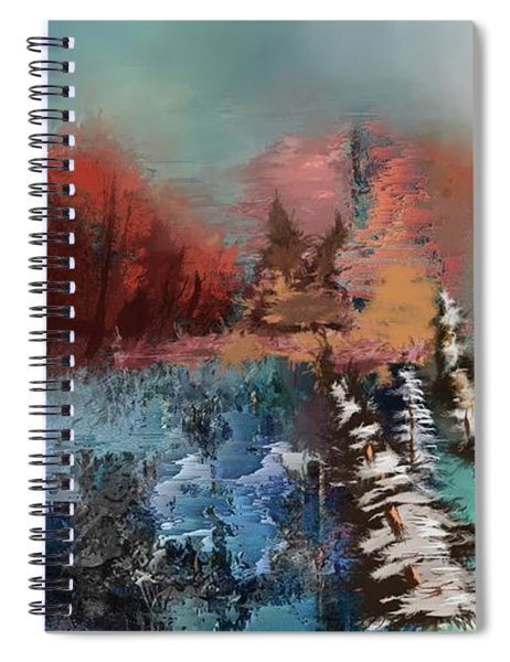 Abstract Fall Landscape Painting Spiral Notebook