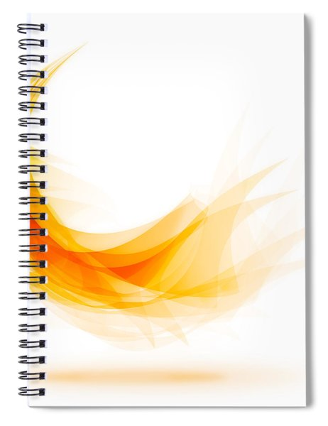 Abstract Feather Spiral Notebook