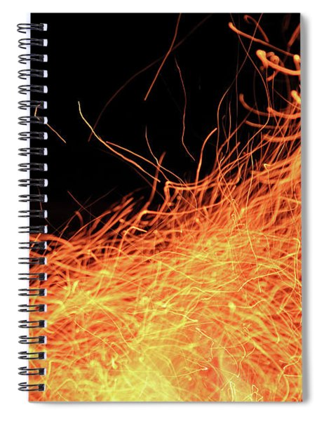 Abstract Flames  Spiral Notebook