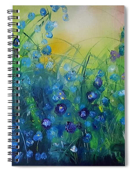 Abstract Flax           31 Spiral Notebook