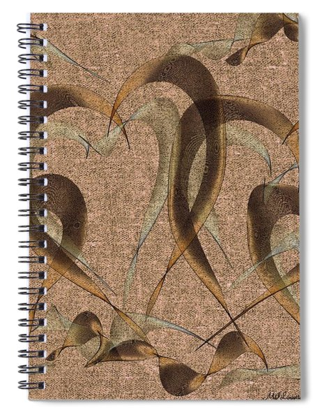 Abstract Floating Hearts Spiral Notebook