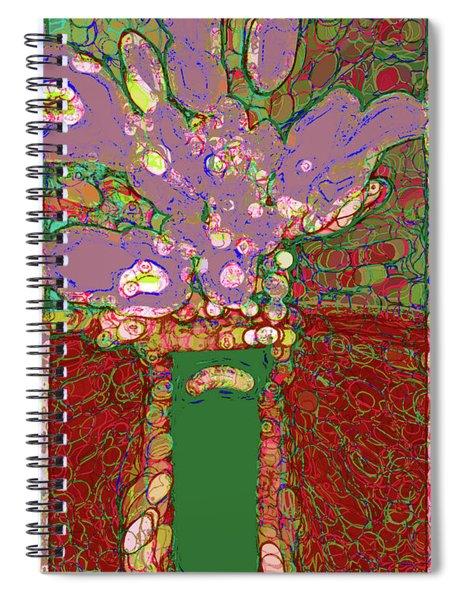 Abstract Floral Art 149 Spiral Notebook