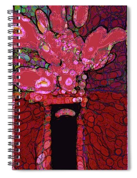 Abstract Floral Art 160 Spiral Notebook
