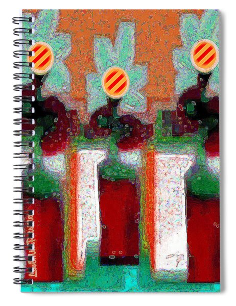 Abstract Floral Art 211 Spiral Notebook