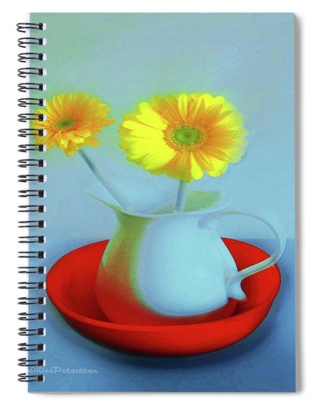 Abstract Floral Art 268 Spiral Notebook