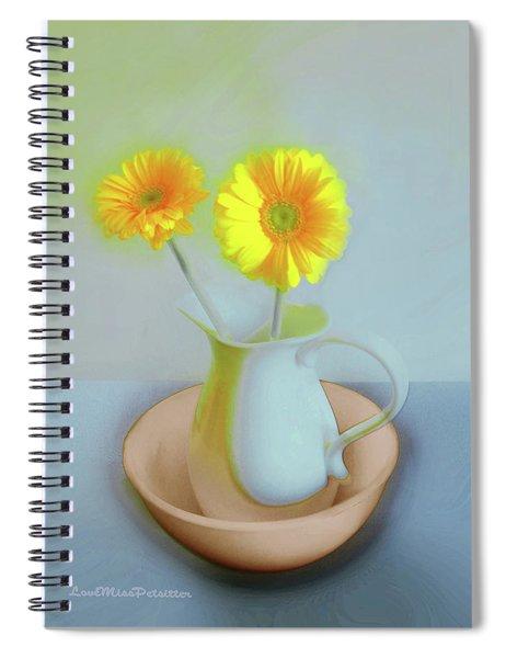 Abstract Floral Art 302 Spiral Notebook