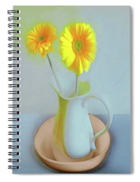 Abstract Floral Art 304 Spiral Notebook