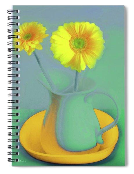 Abstract Floral Art 307 Spiral Notebook