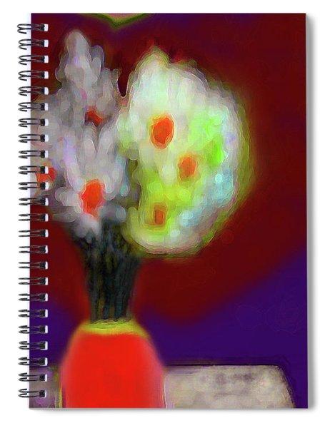 Abstract Floral Art 340 Spiral Notebook