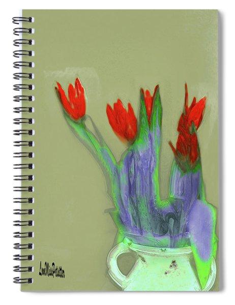 Abstract Floral Art 346 Spiral Notebook
