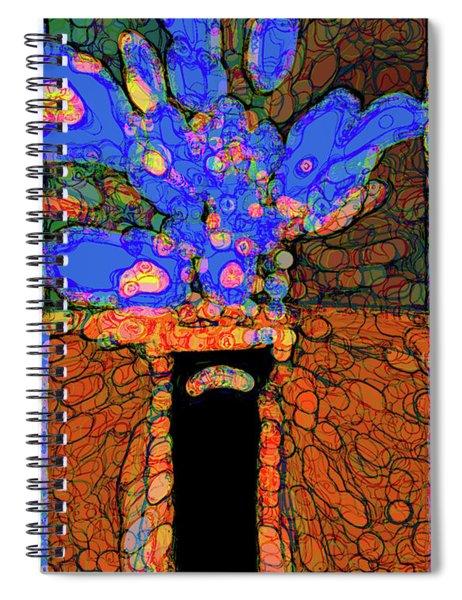 Abstract Floral Art 77 Spiral Notebook