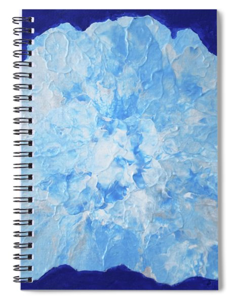 Abstract Flower In Blue Spiral Notebook