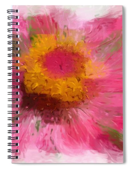 Abstract Flower Expressions Spiral Notebook