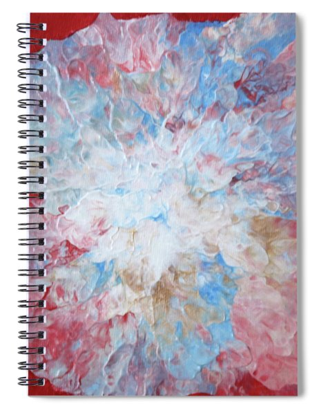 Abstract Flower In Red Surround Spiral Notebook