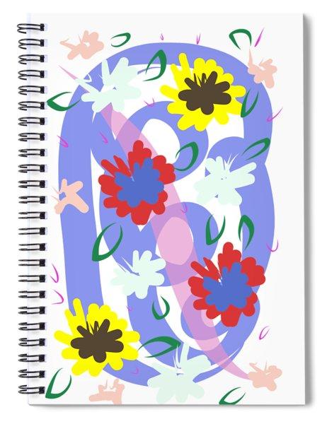 Abstract Garden #1 Spiral Notebook