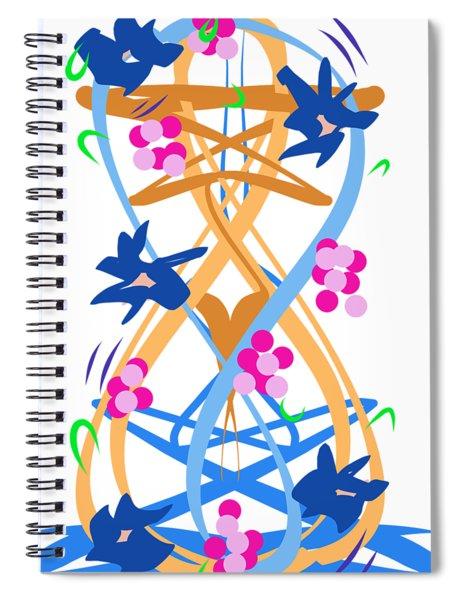 Abstract Garden #3 Spiral Notebook