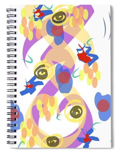 Abstract Garden #5 Spiral Notebook