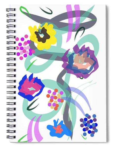 Abstract Garden Nr 4 Spiral Notebook