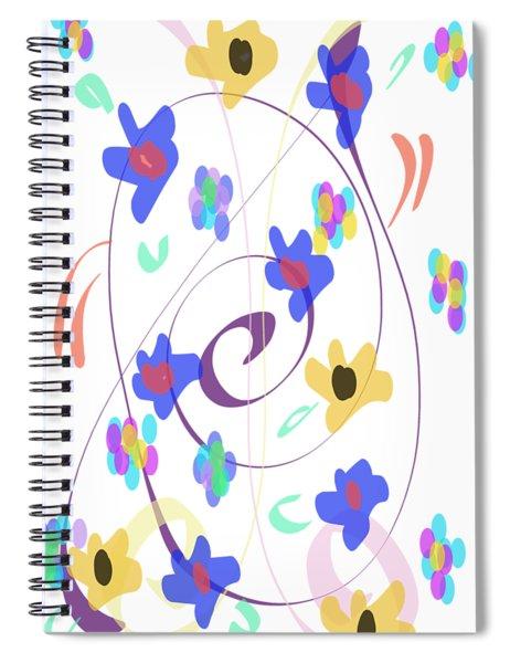 Abstract Garden Nr 7 Naif Style Spiral Notebook