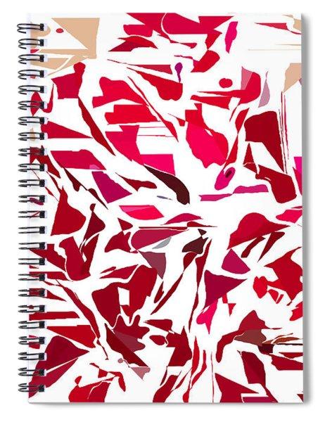 Abstract Geranium Spiral Notebook