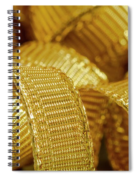 Abstract Gold Ribbons Spiral Notebook