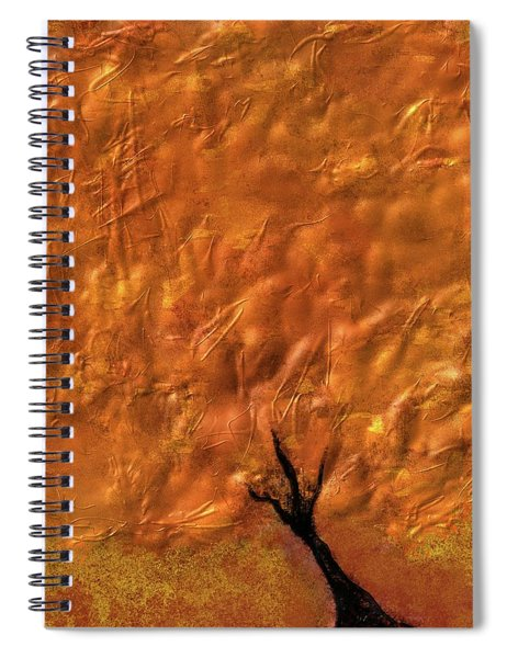 Abstract Gold Tree Spiral Notebook