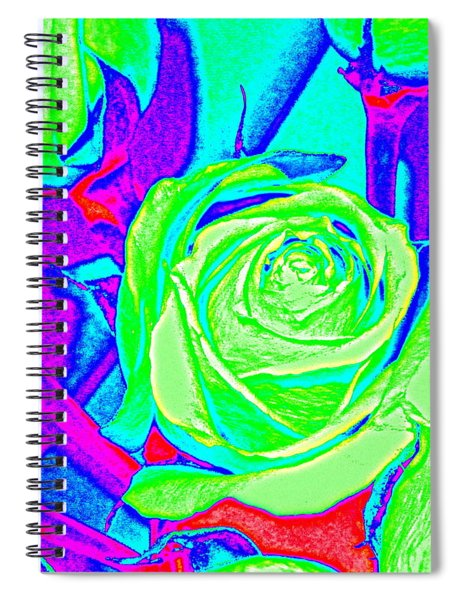 Abstract Green Roses Spiral Notebook