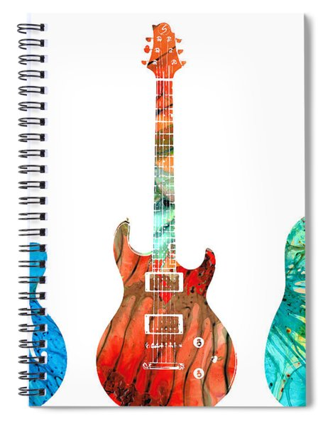 Abstract Guitars By Sharon Cummings Spiral Notebook